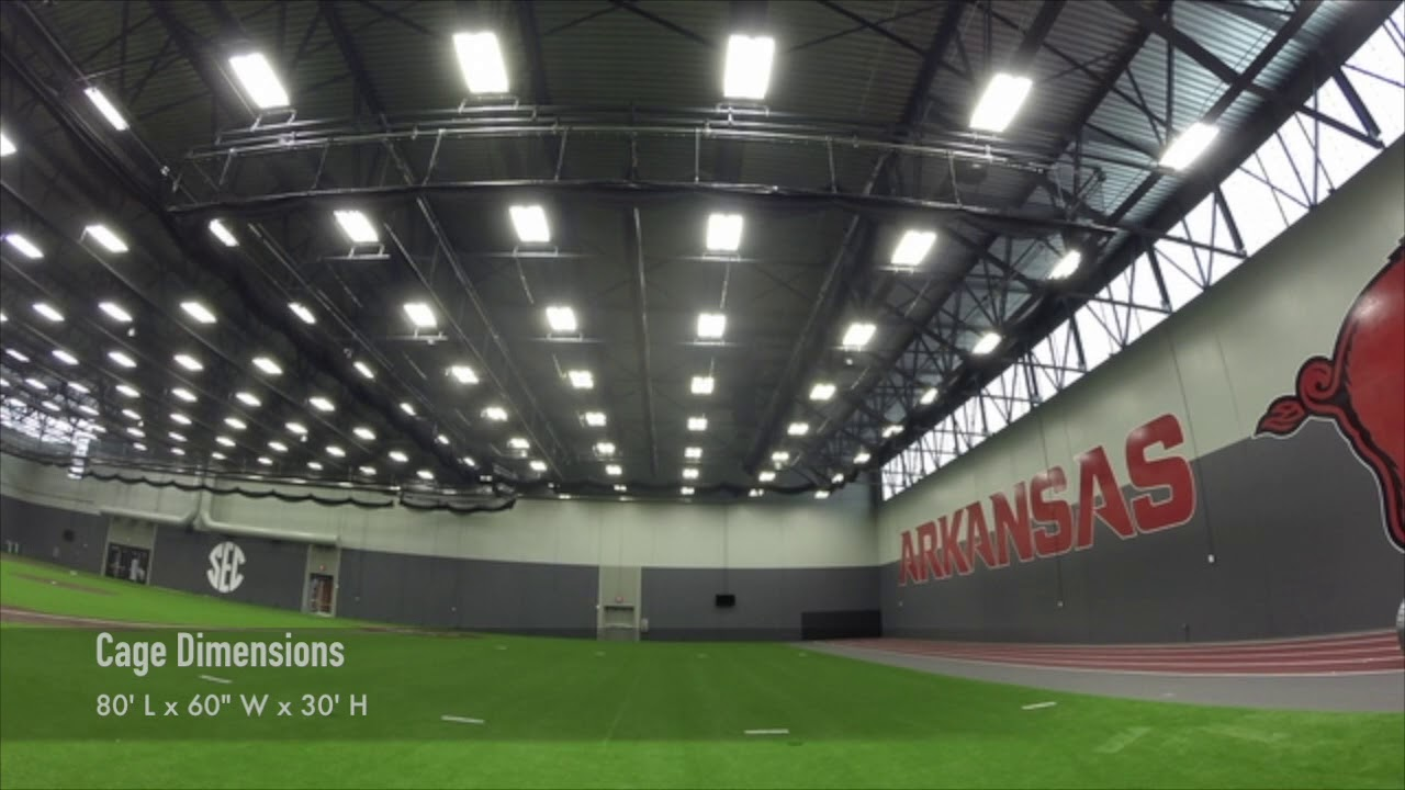 AALCO ATHLETICS Custom Retractable Batting Cage (University Of Arkansas)