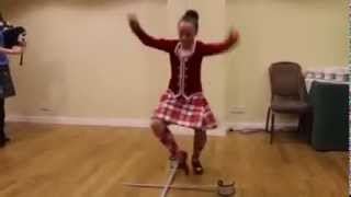 Novel Adventures 2015 Summer Solstice Farewell Dinner entertainment-sword dance, Inverness Scotland