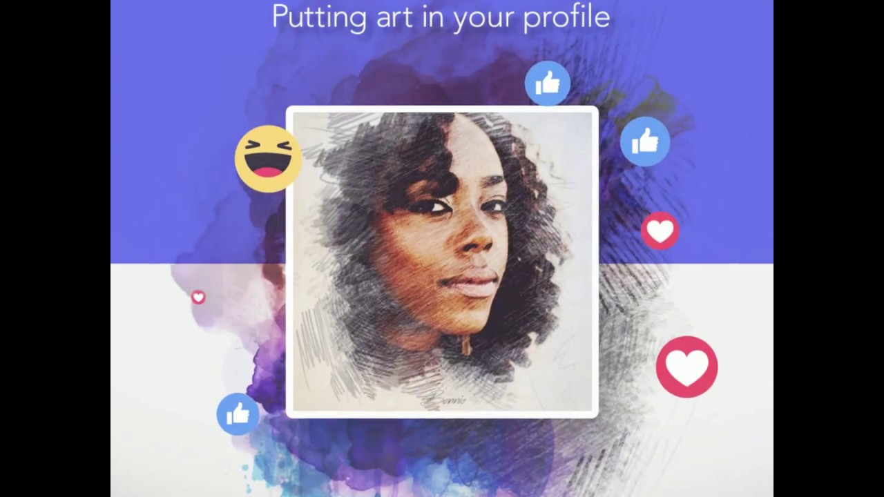 Art Filter App Portra Putting Art In Your Profile Youtube