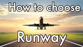 How do pilots choose which runway to use?
