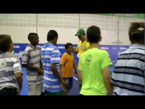 Roger Federer: Gillette Kids Tennis Clinic in São Paulo Brazil - Gillette Federer Tour