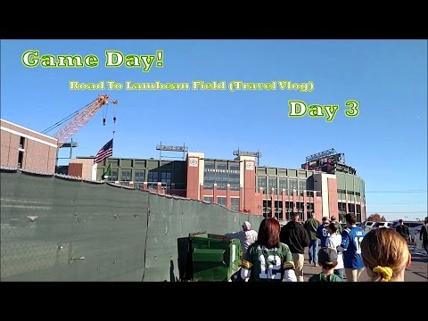 Game Day!   Road to Lambeau Field (Travel Vlog)   Day 3 (Nov. 6, 2016)
