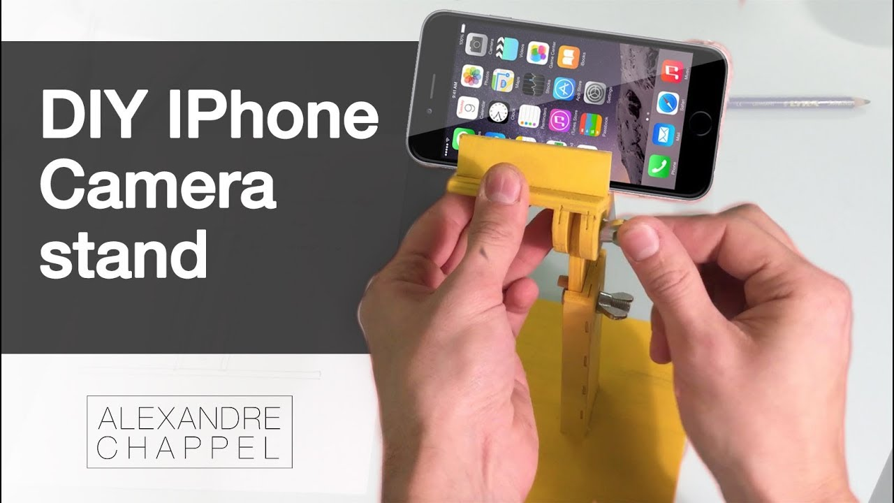 DIY - IPhone Camera Stand - YouTube