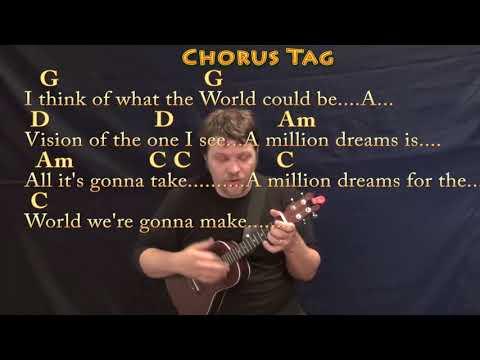 Million Dreams (The Greatest Showman) Ukulele Cover Lesson with Chords/Lyrics