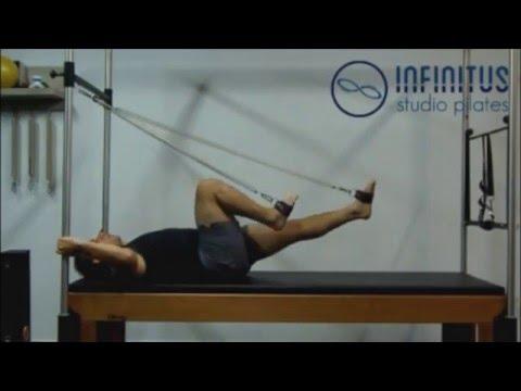 Exercícios de Pilates (Cadillac Para Pernas)