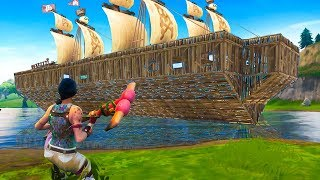 Building a LEGENDARY PIRATE SHIP on Fortnite Battle Royale