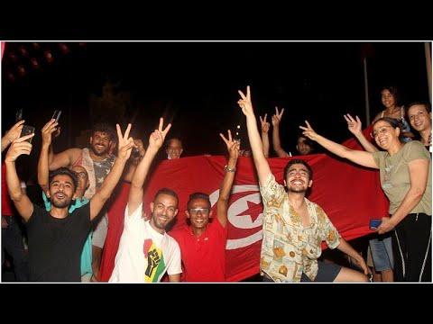 شاهد | احتفالات في تونس تأييداً لقرارات الرئيس  - نشر قبل 57 دقيقة