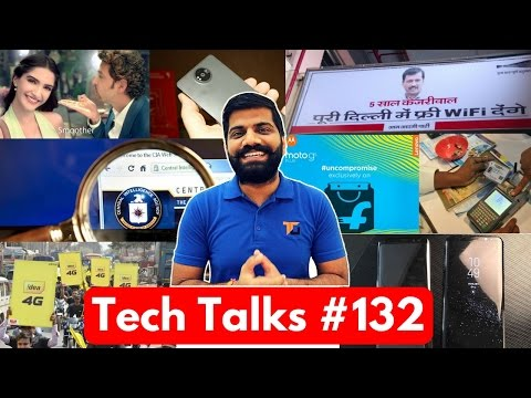 Tech Talks #132 - Delhi Free WiFi, OnePlus 5, Nokia 8, Idea Private Recharge, Intel & Micromax