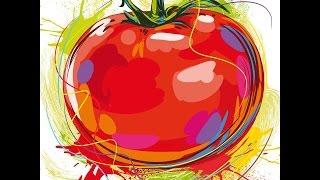 #635. Нарисованные овощи (Еда и напитки)