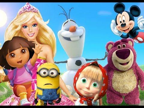 Barbie, Smurfs, Frozen, Toy Story, Peppa Pig, Rio, Маша и Медведь, Peppa Pig Toys, Thomas Friends, M