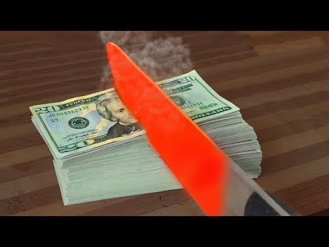 Thumbnail: $10.000 VS EXPERIMENT Glowing 1000 degree KNIFE // MrGear vs TARGET