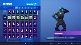 Fortnite Crackdown emote with Cobalt skin