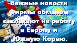 Новости Казахстан, поиск работы за границей. / Видео