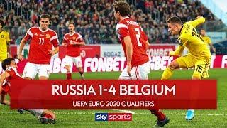 Hazard brothers score in Belgium victory | Russia 1-4 Belgium | Euro 2020 Qualifier
