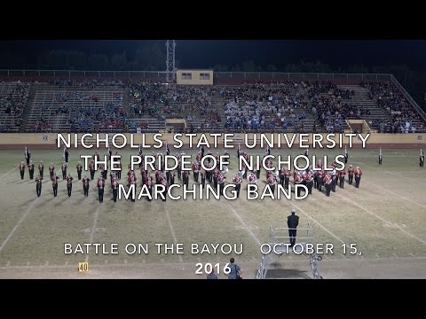 The Pride of Nicholls Marching Band, October 15, 2016