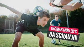 DA SCHAU HI – Thomas Müller meets football freestyler John Farnworth