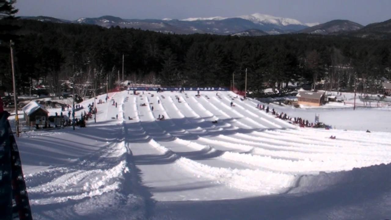 snow tubing in new hampshire - youtube