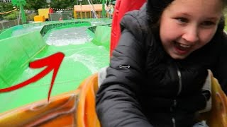 River Rafting Day at the Fair Theme Park - Kids Family Fun Rides