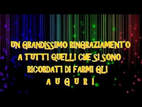 Super VIDEO DI RINGRAZIAMENTO PER GLI AUGURI MAX - YouTube US74