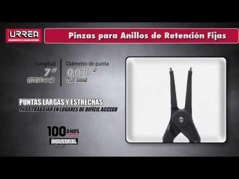Pinzas para Anillos de Retención Fijas URREA URREA México