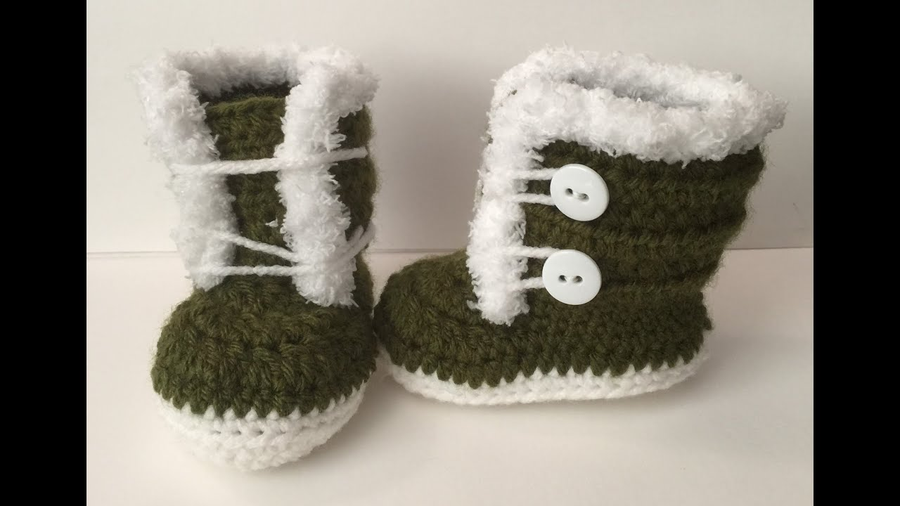 0-3 month fuzzy/ Fur Crocheted Boots | Easy to follow