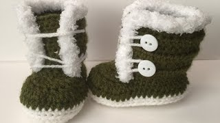 0-3 month fuzzy/ Fur  Crocheted Boots | Easy to follow Video Tutorial