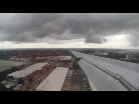 PHL to ATL - Delta MD90 Landing at Hartsfield-Jackson Atlanta International Airport