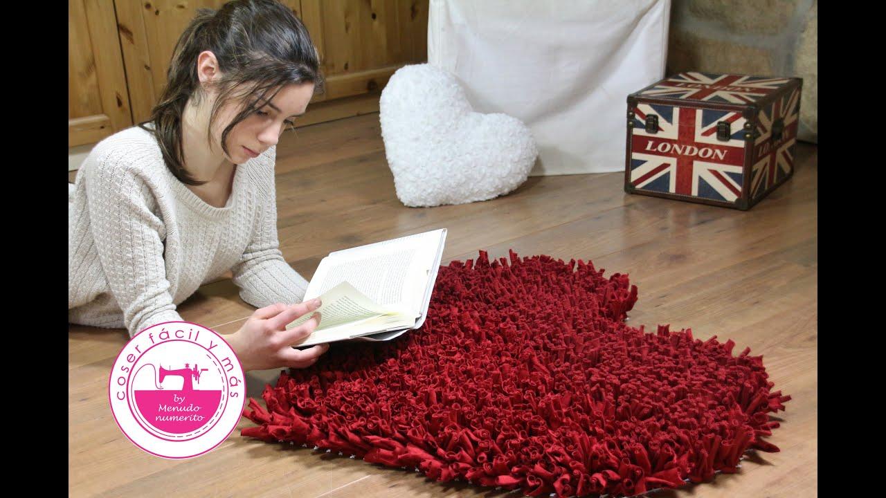 C mo hacer una alfombra de trapillo v deo corto youtube - Tejer con trapillo ...