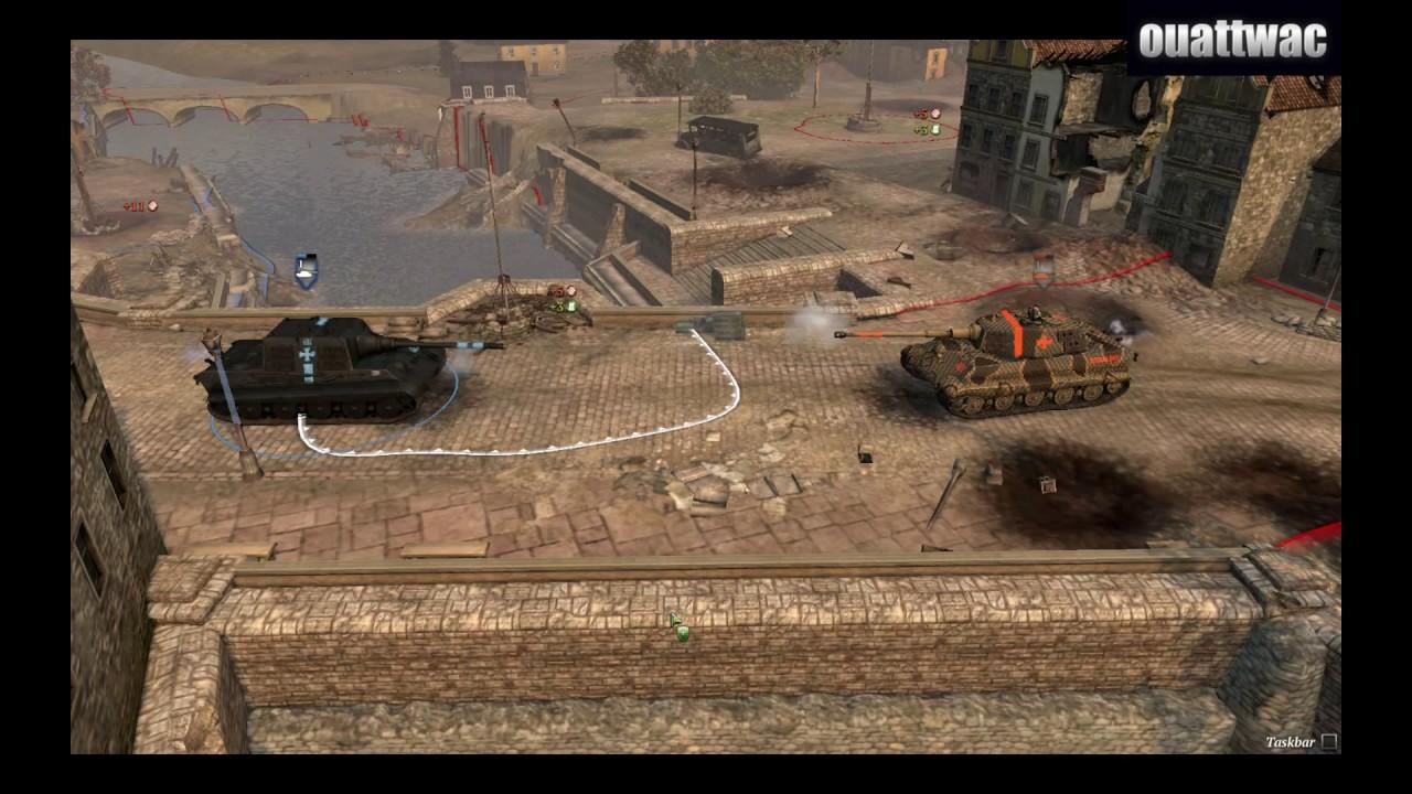 Company Of Heroes 2 Jagdtiger Vs Konigstiger Youtube