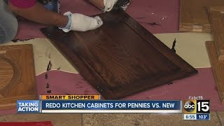 Re-do Kitchen Cabinets For Pennies Vs. New