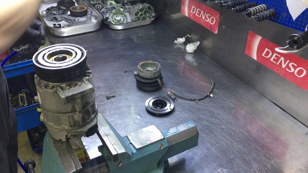 как снять муфту компрессора кондиционера bmw e39