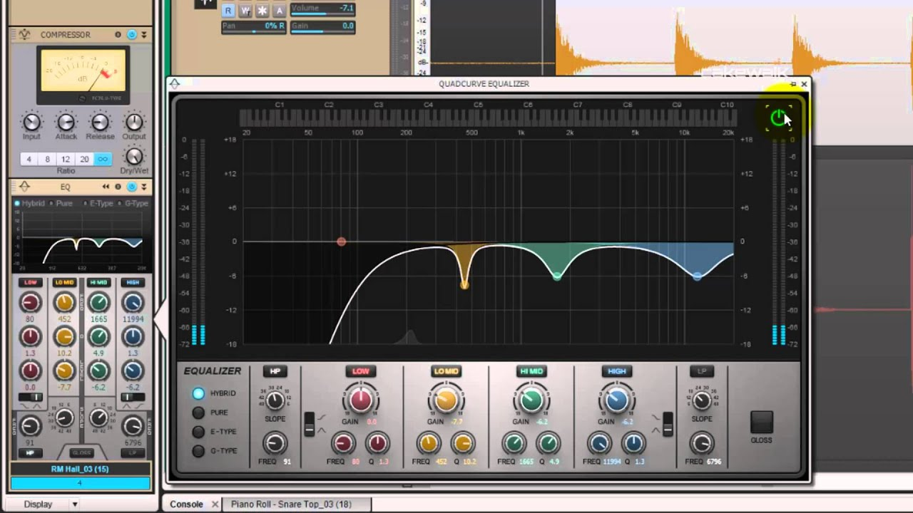 How to EQ a Room Microphone Sample - Producing Drum Samples in SONAR X3 (7  of 11)