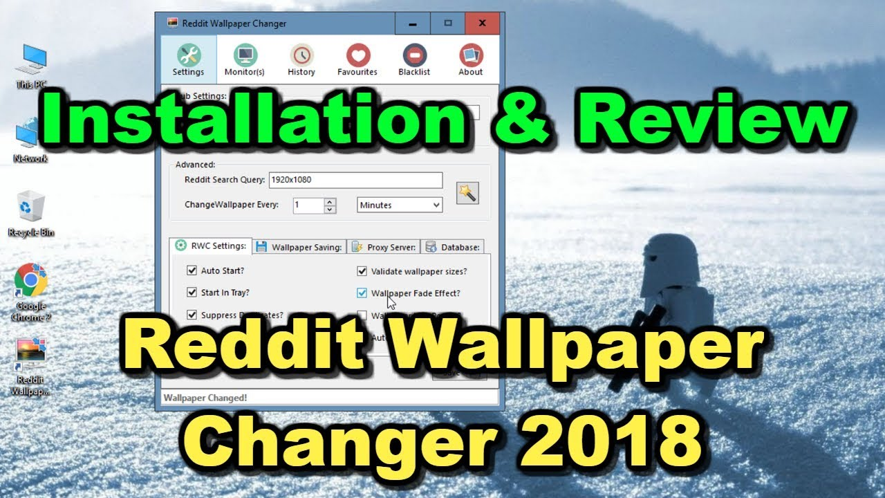 Reddit Wallpaper Changer 2018 Tutorial and a Quick Review