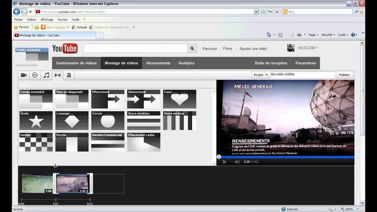 Comment faire un montage vid o sur youtube youtube for Logiciel montage cuisine 3d gratuit