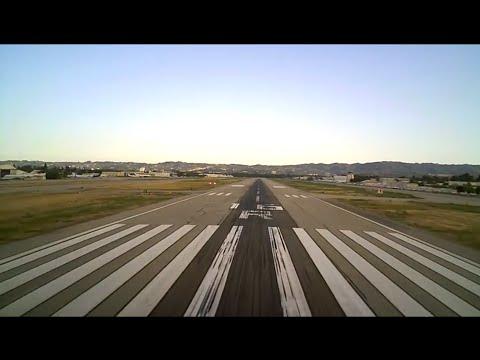 Gulfstream G550 ILS approach. Van Nuys, CA