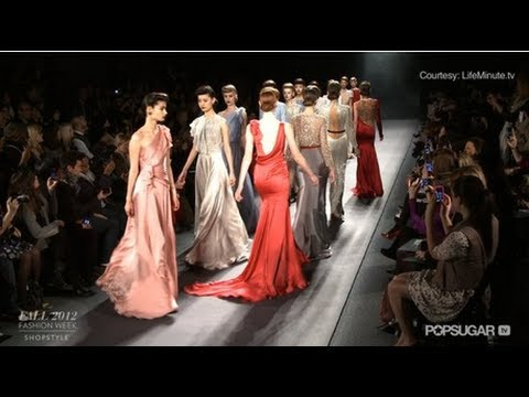 Old Hollywood Glamour on Jenny Packham's Fall 2012 Runway
