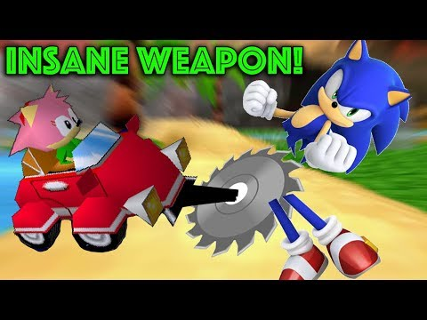 Sonic R Prototype Weapon is Crazy