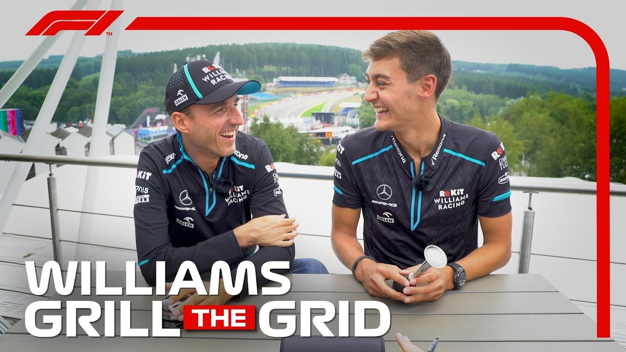 Williams' Robert Kubica And George Russell! | Grill the Grid 2019
