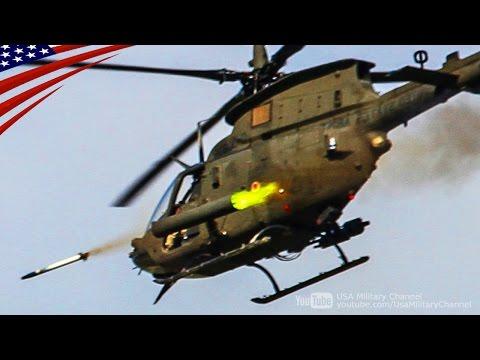 OH-58 Kiowa Rockets & M3P .50 Cal Machine Gun Live Fire: Cockpit View