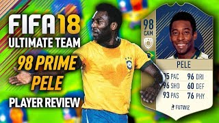 FIFA 18 PRIME PELE (98) *ICON* PLAYER REVIEW! FIFA 18 ULTIMATE TEAM!
