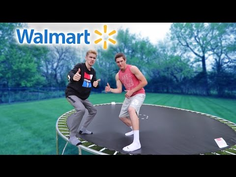 WALMART TRAMPOLINE GAME OF T.R.A.M.P! *INSANE*