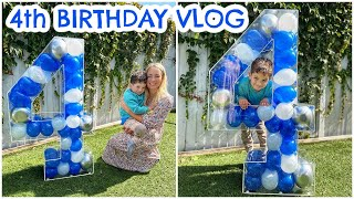 JACKSON IS 4!  BIRTHDAY VLOG - DAY IN THE LIFE & GIFTS  |  Emily Norris