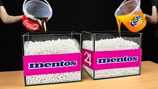 experiment: Coca Cola and Fanta Vs Mentos Catch Water Snake In Underground Hole