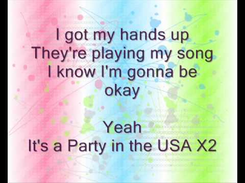 Miley Cyrus Party in the Usa lyrics