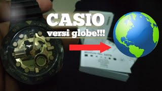 Unboxing CASIO AEQ 100BW 9AVDF Jam model globe!!
