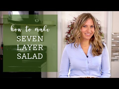 How to make SEVEN LAYER SALAD {Recipe Video}