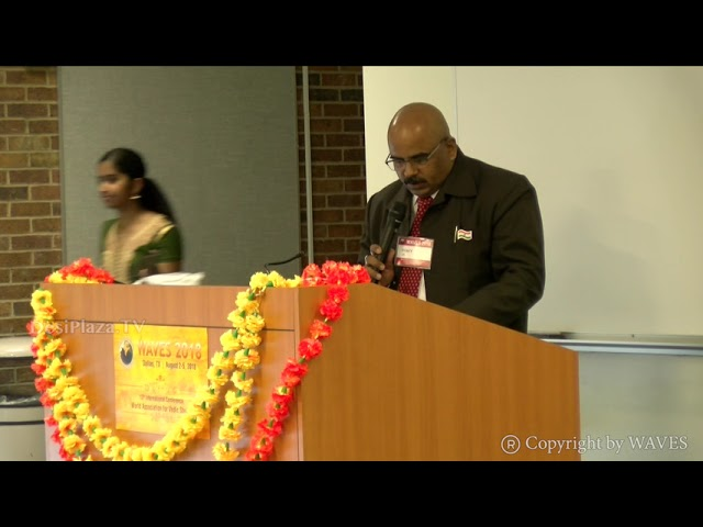 Dr. J. S. Dubey's talk on 'Vedic Concept of God' at WAVES  Dallas, Texas - 2018.