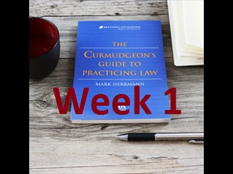 Week 1 on The Curmudgeon
