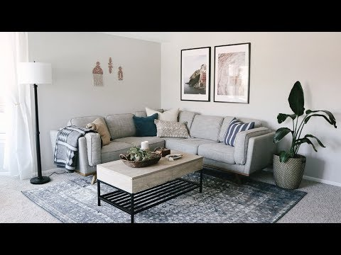 Living Room Apartment Makeover • Laying Out Furniture Tips & Decorating Ideas