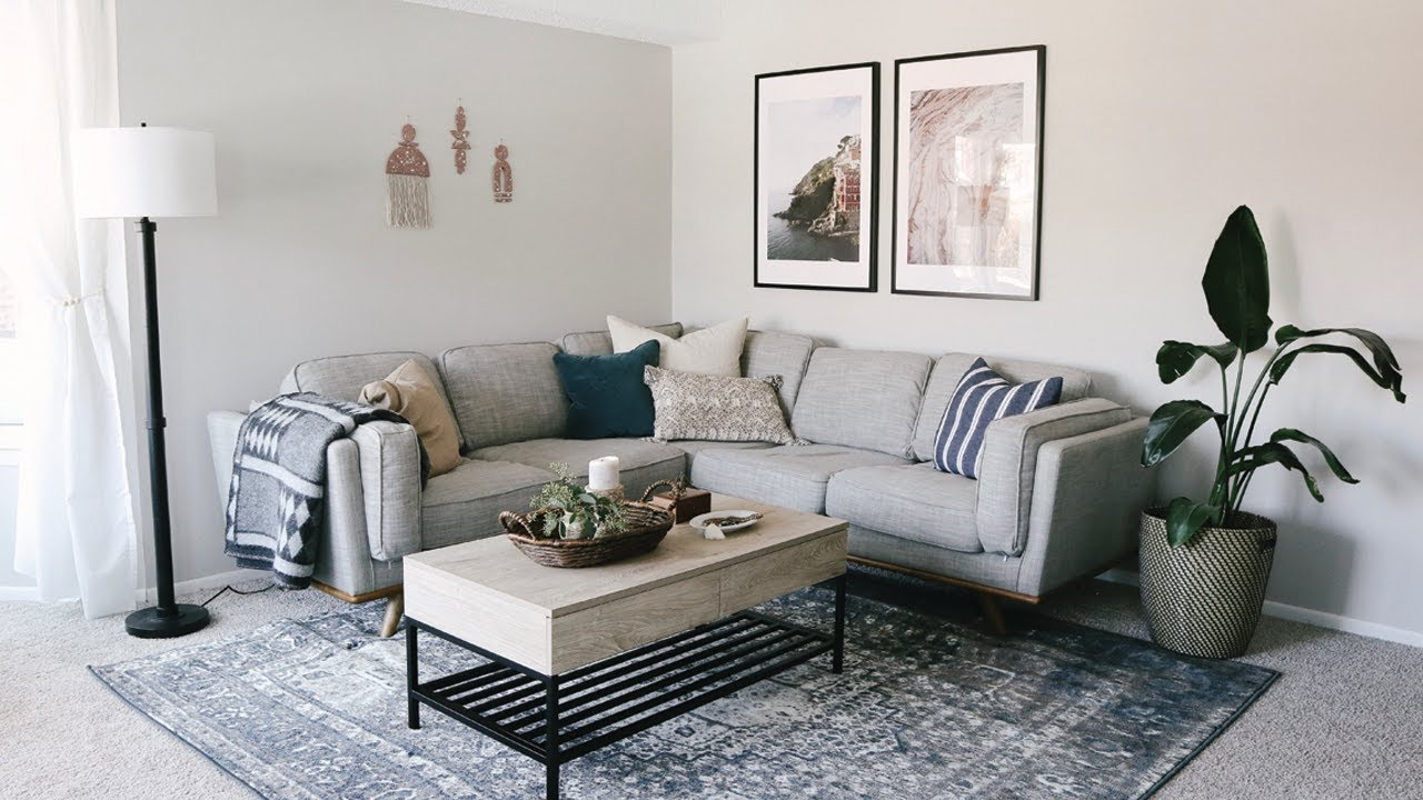 Living Room Apartment Makeover Laying Out Furniture Tips